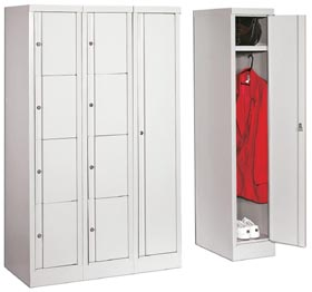 Stylish metal lockers