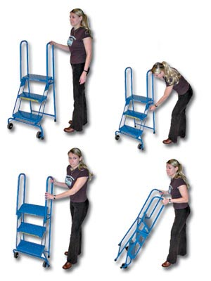 Small Folding Rolling Ladder