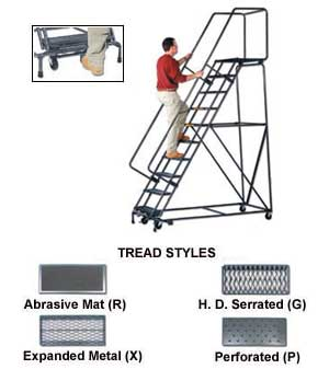 Pivoting Ladders, Rolling Warehouse Ladder ...