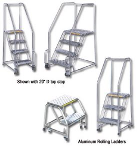 Rolling Ladders Steel Rolling Warehouse Ladder